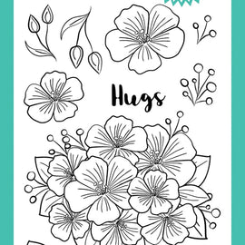 Avery Elle Floral Bouquet Clear Stamps - Crafty Meraki