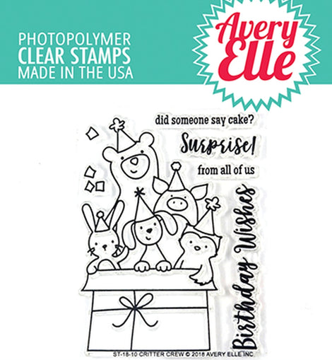 Avery Elle Critter crew clear stamps - Crafty Meraki