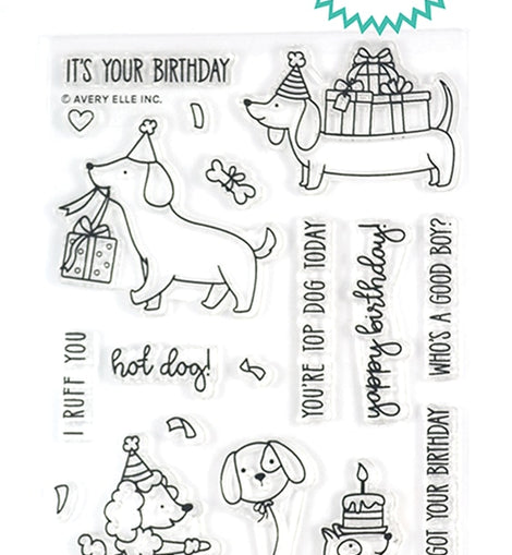Avery Elle Hot Dog Clear Stamps - Crafty Meraki