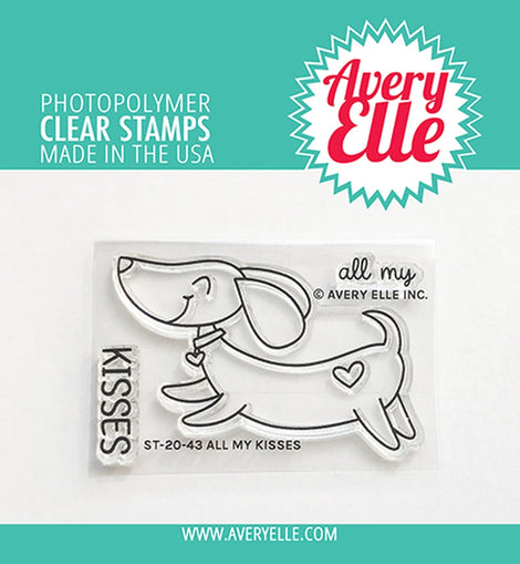 Avery Elle All my kisses clear stamps - Crafty Meraki