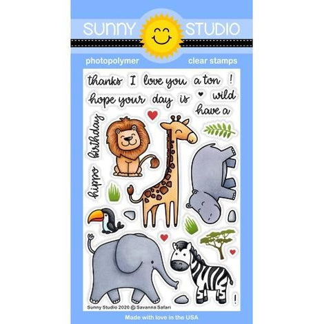 Sunny Studio Stamps Savanna Safari Stamps - Crafty Meraki