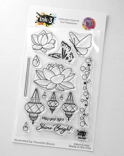 Crafty Meraki Inkon3 Collaboration - Shine Bright stamp set - Crafty Meraki