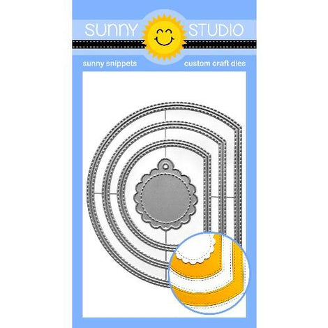 Sunny Studio Stamps Stitched Semi-Circle Die - Crafty Meraki