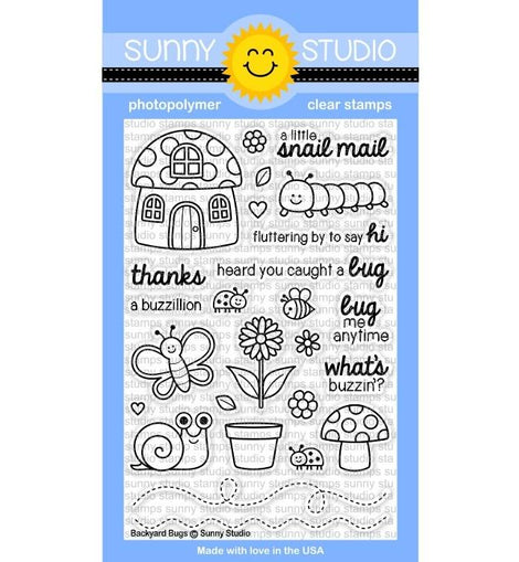 Sunny Studio BACKYARD BUGS STAMPS - Crafty Meraki