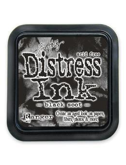 Ranger Tim Holtz Distress® Ink Pad Black Soot - Crafty Meraki