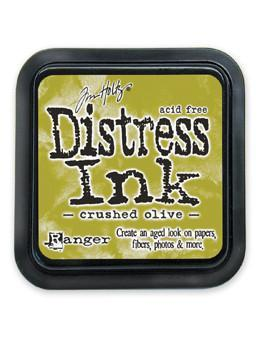 Ranger Tim Holtz Distress® Ink Pad Crushed Olive - Crafty Meraki