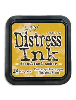 Ranger Tim Holtz Distress® Ink Pad Fossilized Amber - Crafty Meraki