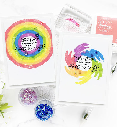 Pinkfresh Studio Stamping Village Collaboration Stamp Set:  We stand with you - Crafty Meraki