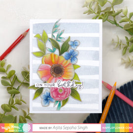 Waffle Flower Bouquet Builder 7 Stamp Set - Crafty Meraki