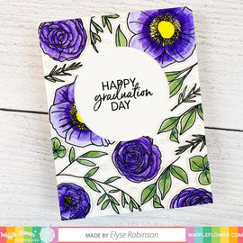 Waffle Flower Graduation Sentiments Stamp Set - Crafty Meraki