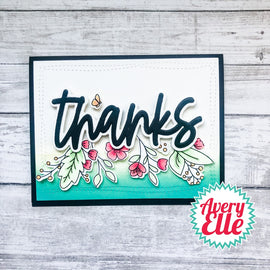 Avery Elle Loads Of Thanks Elle-ments dies - Crafty Meraki
