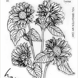 Altenew  Paint-A-Flower: Sunflower Outline Stamp Set - Crafty Meraki