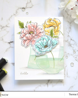 Altnew Beautiful Peony Stamp Set - Crafty Meraki
