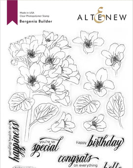 Altenew Bergenia Builder Stamp Set - Crafty Meraki