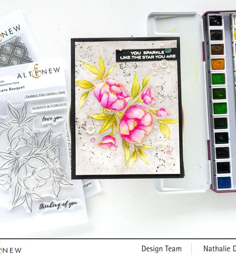 Altenew Delicate Bouquet Stamp Set - Crafty Meraki