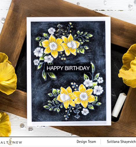Altenew Paint-A-Flower: Daffodil  Stamp Set - Crafty Meraki