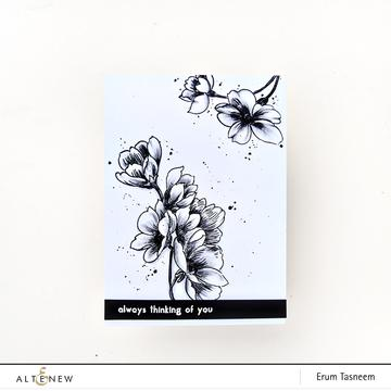 Altenew Pen Sketched Flowers Stamp Set - Crafty Meraki
