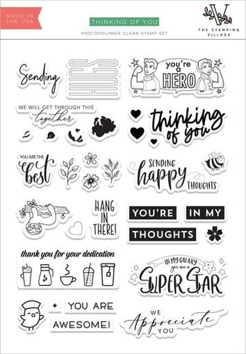 Altenew Thinking of You Stamp Set by The Stamping Village - Crafty Meraki