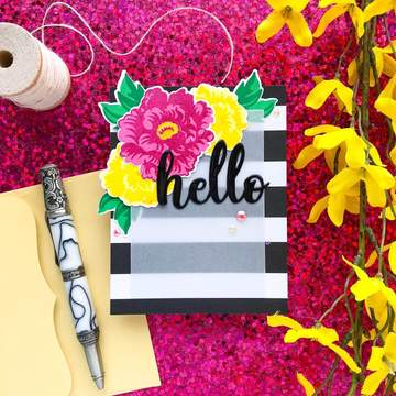 Altenew Simply Hello Die - Crafty Meraki