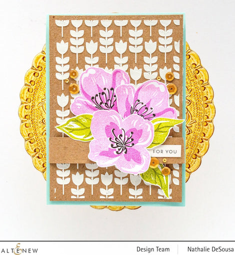 Altnew Floral Wallpaper Stencil - Crafty Meraki
