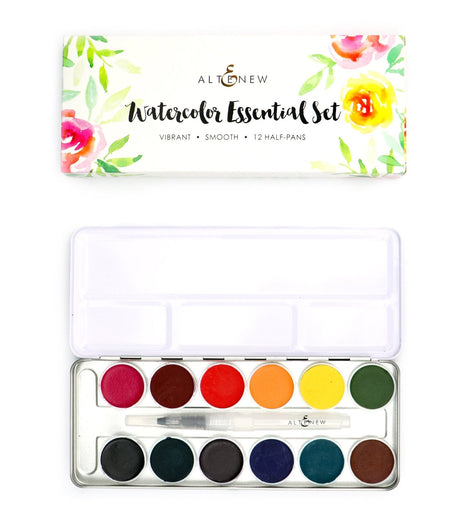 Altenew Watercolor Essential 12 Pan Set - Crafty Meraki