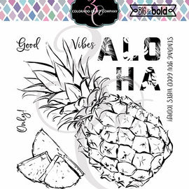 Colorado Craft Company Big & Bold Aloha Pineapple Stamp Set - Crafty Meraki
