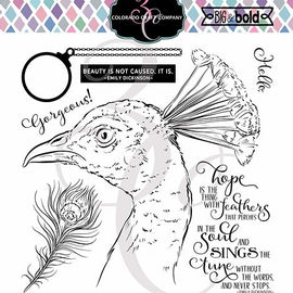 Colorado Craft Company Big & Bold~Hope Sings Peacock Stamp Set - Crafty Meraki