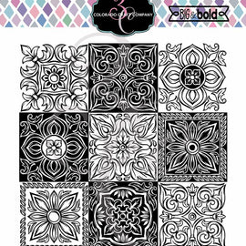 Colorado Craft Company Big & Bold - Italian Tiles Small Stamp Set - Crafty Meraki