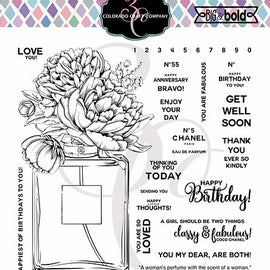 Colorado Craft Company Big & Bold~Perfume Bouquet Stamp Set - Crafty Meraki