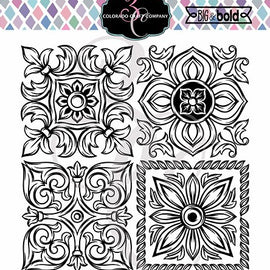Colorado Craft Company Big & Bold Italian Tiles Large Stamp Set - Crafty Meraki