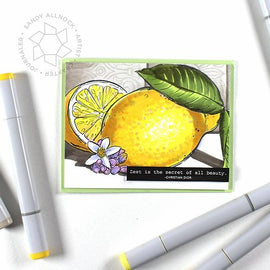 Colorado Craft Company Big & Bold Lemon Zest Stamps Set - Crafty Meraki