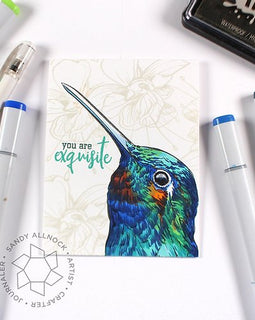 Colorado Craft Company Big & Bold~Hummingbird Delight Stamp Set - Crafty Meraki