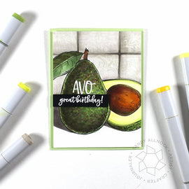 Colorado Craft Company Big & Bold Avocado Love Stamp Set - Crafty Meraki