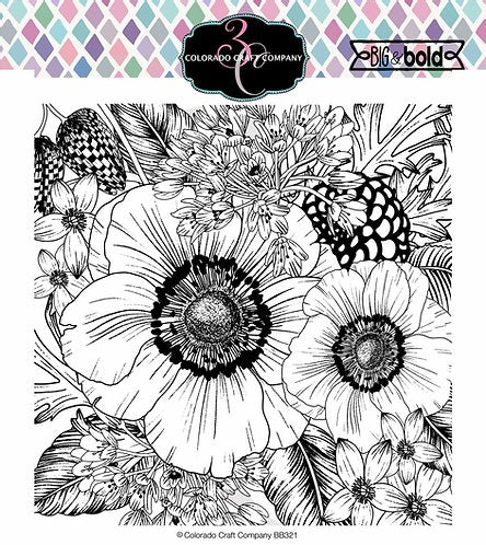 Colorado Craft Company Big & Bold~Anemone & Alium Stamp Set - Crafty Meraki