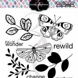 Colorado Craft Company Big & Bold~Blissful Butterflies Stamp Set - Crafty Meraki