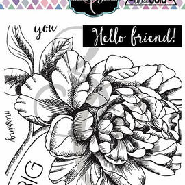 Colorado Craft Company Big & Bold~Missing You Peony Stamp Set - Crafty Meraki
