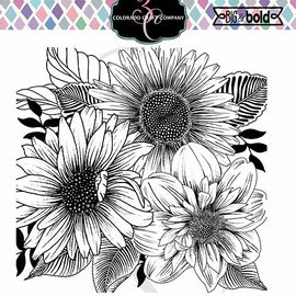 Colorado Craft Company Big & Bold~Daisy & Dahlia Stamp Set - Crafty Meraki