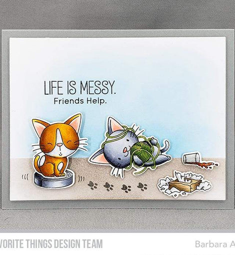 My Favorite Things BB Cat-astrophe Stamp Set - Crafty Meraki