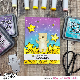 Crafty Meraki Heffy Doodle Collaboration Superstar stamp set - Crafty Meraki