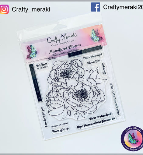 Crafty Meraki Magnificent Blooms stamp set - Crafty Meraki