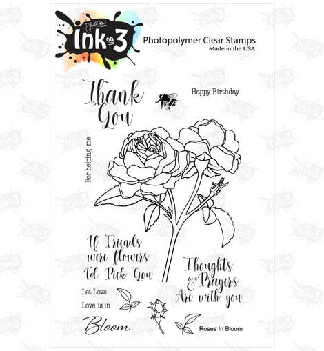 Inkon3 Roses In Bloom 4x6 Clear Stamp Set - Crafty Meraki