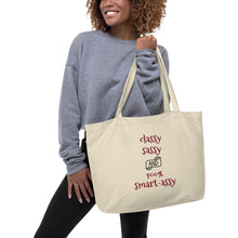 Load image into Gallery viewer, Organic tote bag - sassy