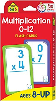 Tarjetas Flash  de Multiplicacion 0-12