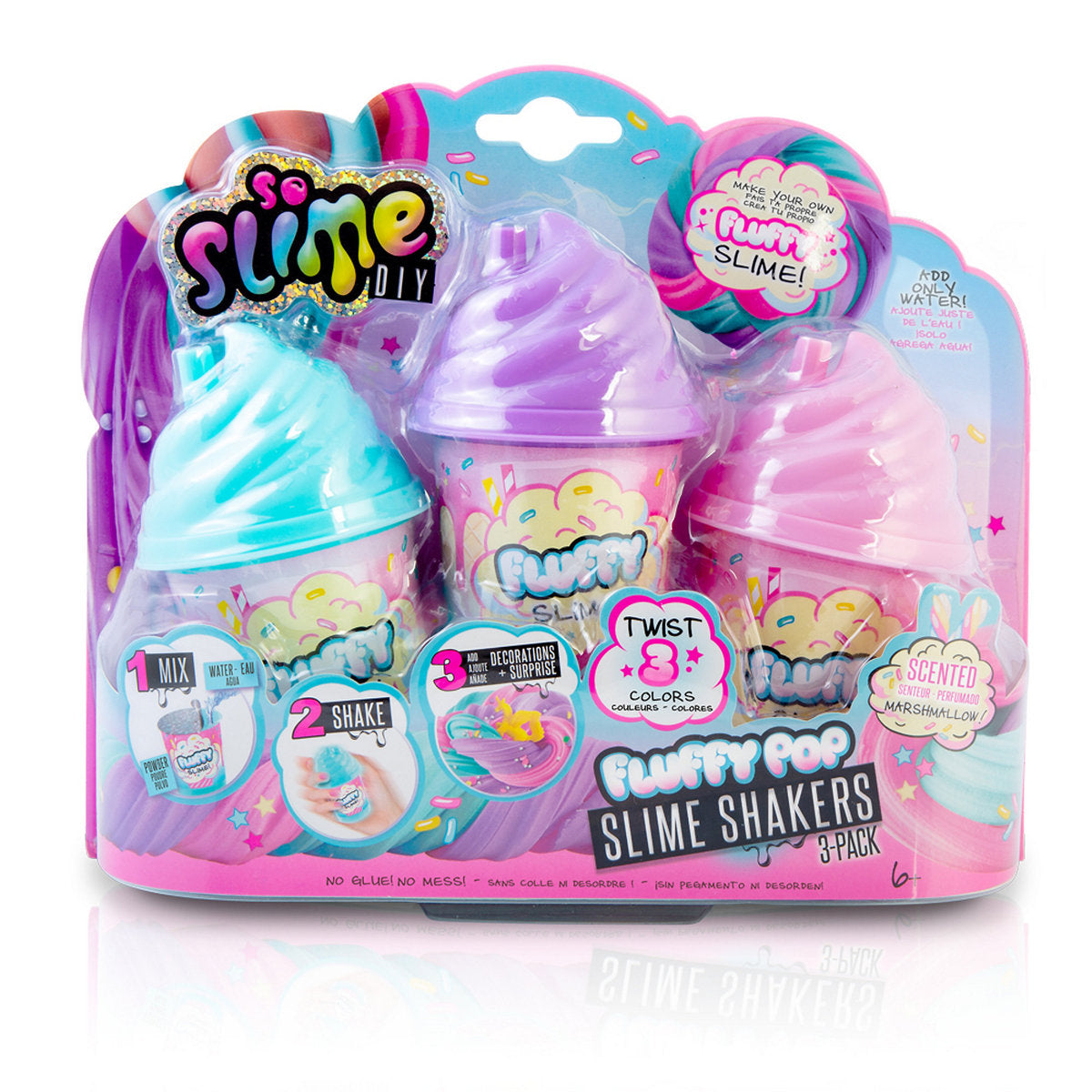 Slime Shaker Fluffy - 3 PACK