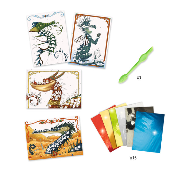 Set de Manualidad con Papel Dragones