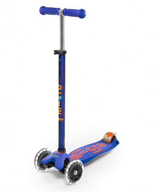 Scooter Maxi Deluxe LED Azul
