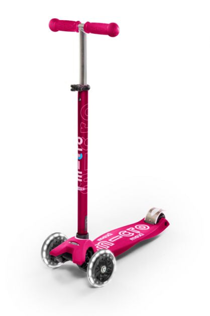 Scooter Maxi Deluxe LED Rosado