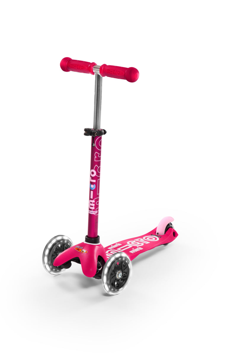 Scooter Mini Deluxe LED Rosado