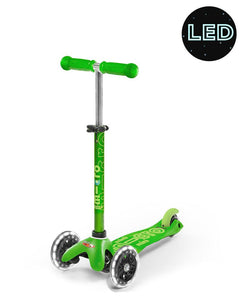 Scooter Mini Deluxe LED Verde
