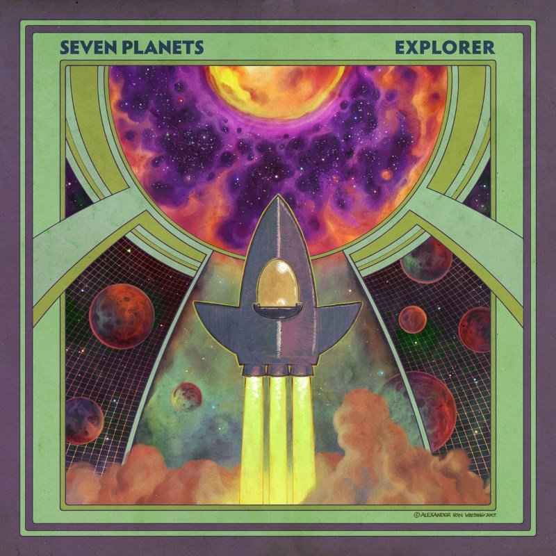 PreOrderART-080:  Seven Planets - Explorer (green multicolored marbled) *Mailorder Edition